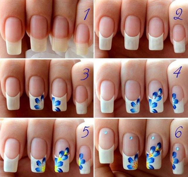 flower nail art Today Fashion