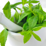mint and water