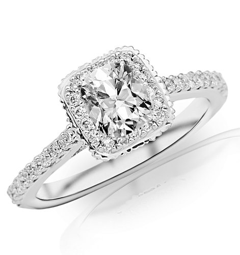 prince cut diamond ring
