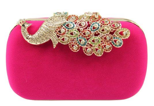 pink coloured beautiful clutch