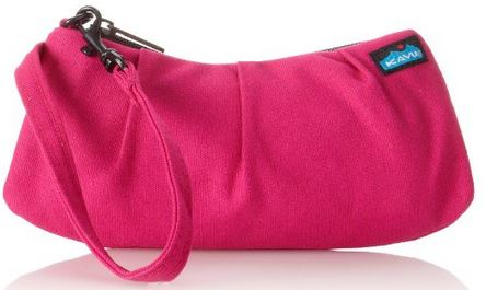 simple pink clutch