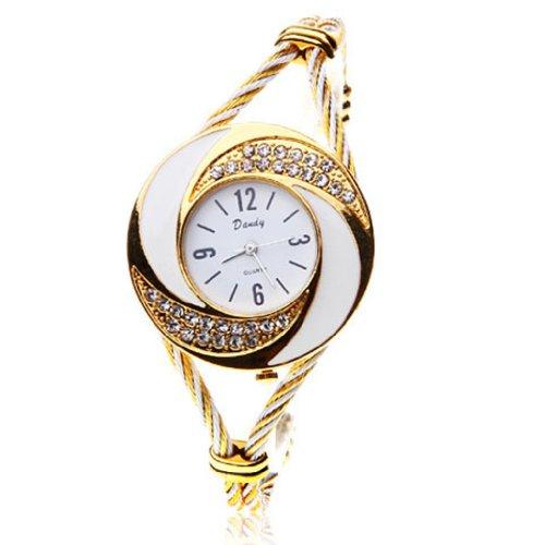 Wrist-Watch-Quartz-Gold-White-WTH0051-0