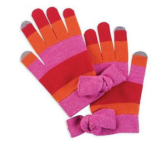 Mud Pie Lucy Bow Smart Screen Gloves