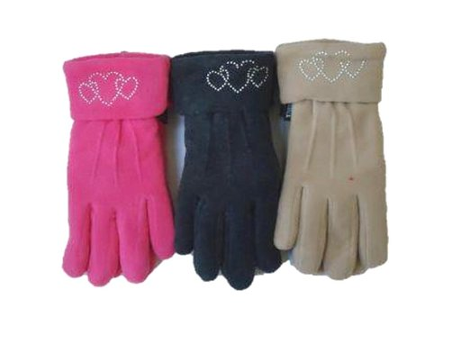 Set of Three Pairs Fleece Polyester with Microfiber Lined Very Warm Gloves