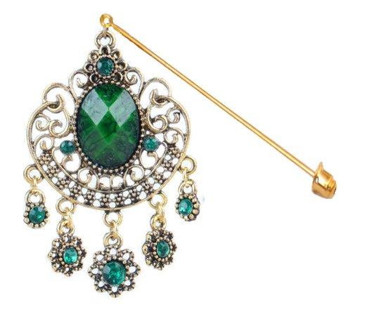 Hijab Accessory Jewelry Pin Brooch Accessories Scarf Green