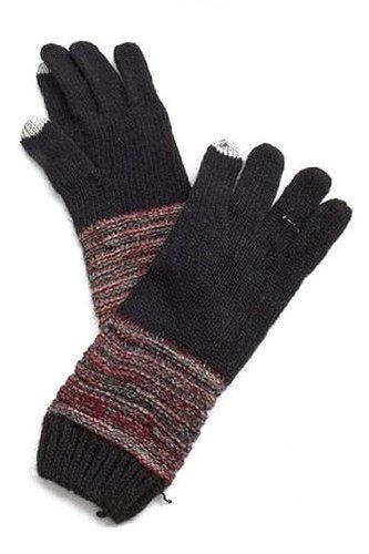 Hand Knitted Winter Warmer Gloves Set - BLACK