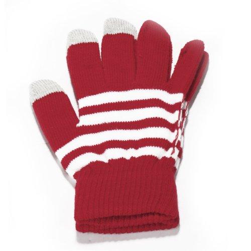 ILOVEDIY Red Stripe Winter Gloves Touchscreen Women Winter Gloves