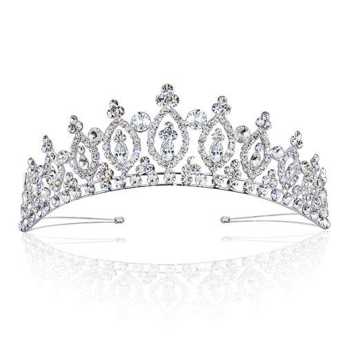 Wedding Tiara Royal Marquise Rhinestone Bridal Crown