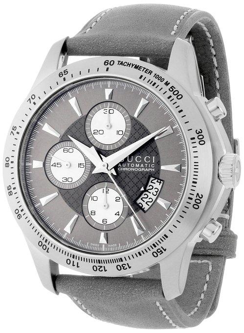 "Gucci Men's YA126241 ""G-Timeless"" Anthracite Diamond Pattern Dial Watch"