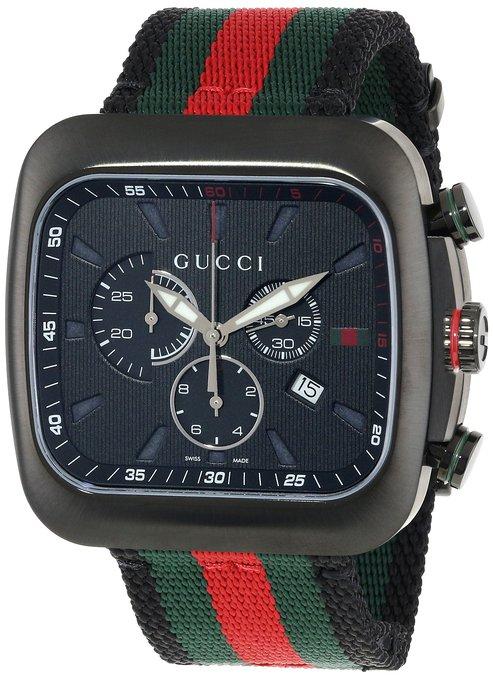 5c883040c20 Gucci Men s YA131202 Coupe Black Swiss Automatic Nylon Strap Watch