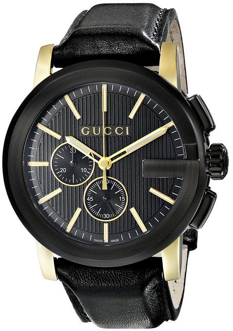 Gucci Men's YA101203 Gucci G - Chrono Collection Analog Display Swiss Quartz Black Watch