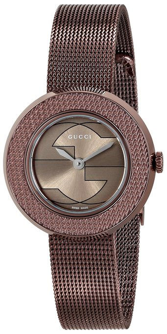 Gucci Women's YA129520 Gucci U - Play Collection Analog Display Swiss Quartz Brown Watch