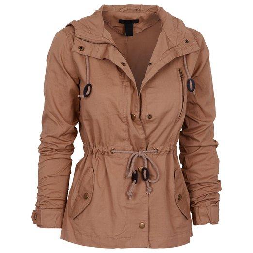 Womens Fashion Lightweight Button Down Hoodie Safari Jacket