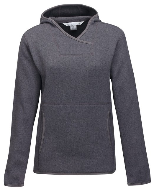 Tri-Mountain Women's Paige Sweater Fleece Hooded Pullover