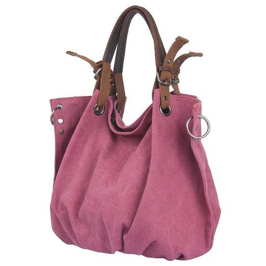 CLELO Women's Vintage Hobo Canvas Genuine Leather Tote Handbag Shoulder Bag