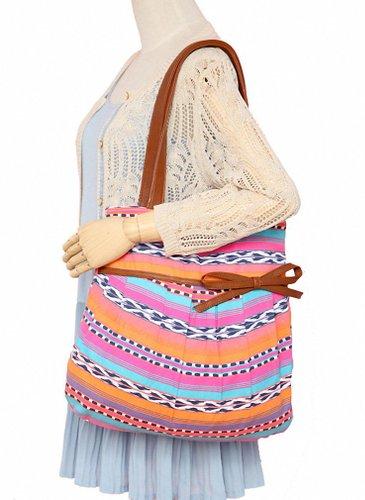 Kenox Women Vintage Bohemia Tote Shoulder Handbag